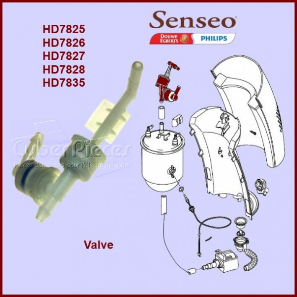 valve sens o 422225950562 pour senseo machine a dosettes. Black Bedroom Furniture Sets. Home Design Ideas