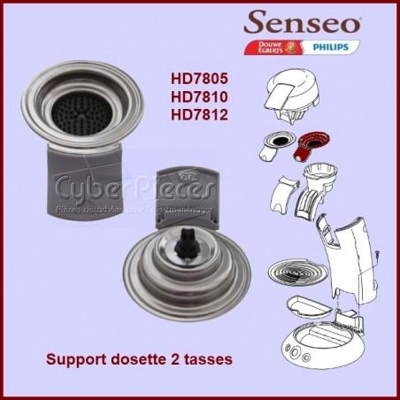 Support dosette 2 tasses gris Senseo - 422225939040