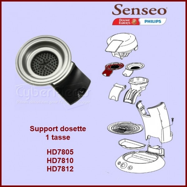 Support De Filtre Noir Tasse Senseo Pour Senseo - Porte dosette senseo 1 tasse