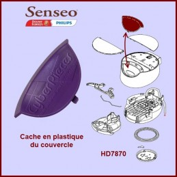 Cache en plastique violet...