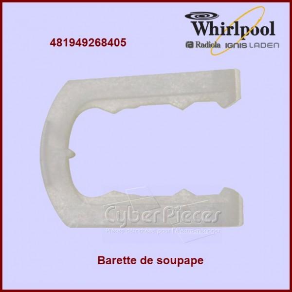 Barrette de soupape Whirlpool 481949268405
