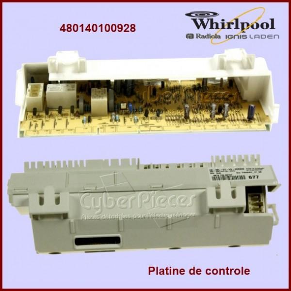Module électronique configuré Whirlpool 480140100928