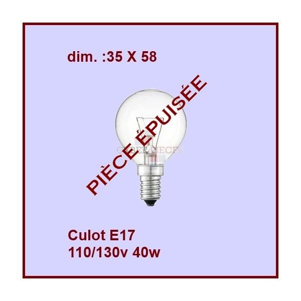 Ampoule E17 35x58 120v 40w Sphérique