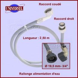 Tuyau d'alimentation d'eau 2.50m - coudé CYB-001595