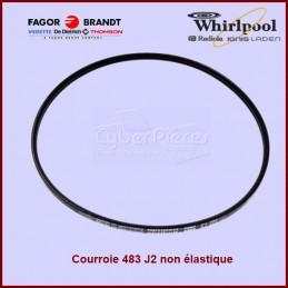 Courroie 483J2 non élastique