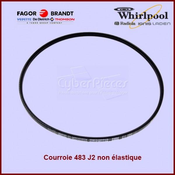 Courroie 483 J2 non élastique