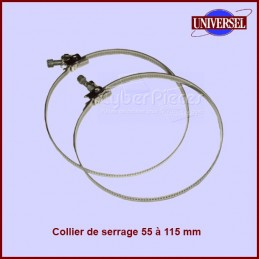 Lot de 2 colliers 55 à 115 mm CYB-001915