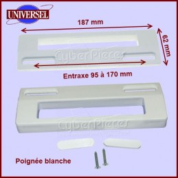 Poignée blanche universelle 187x62mm CYB-022149