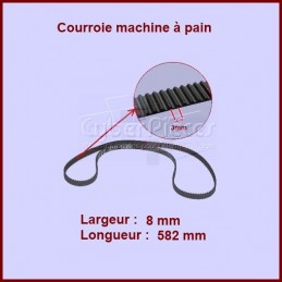 Courroie 582mm machine à pain SS-188290 CYB-036580