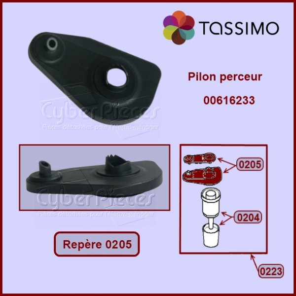 Pilon perceur de capsule Tassimo  00616233