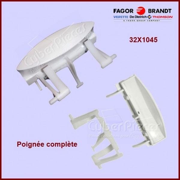 Poignée blanche avec ressort Brandt 32X1045