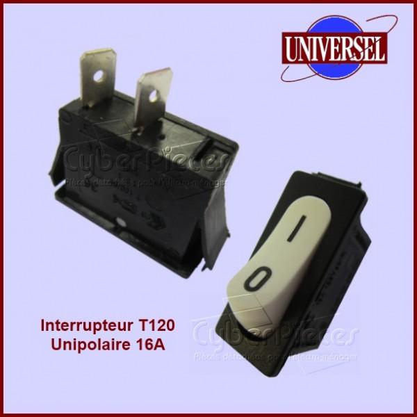 Interrupteur T120 16A / 125V unipolaire