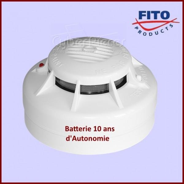 Détecteur de fumée batterie 10 ANS