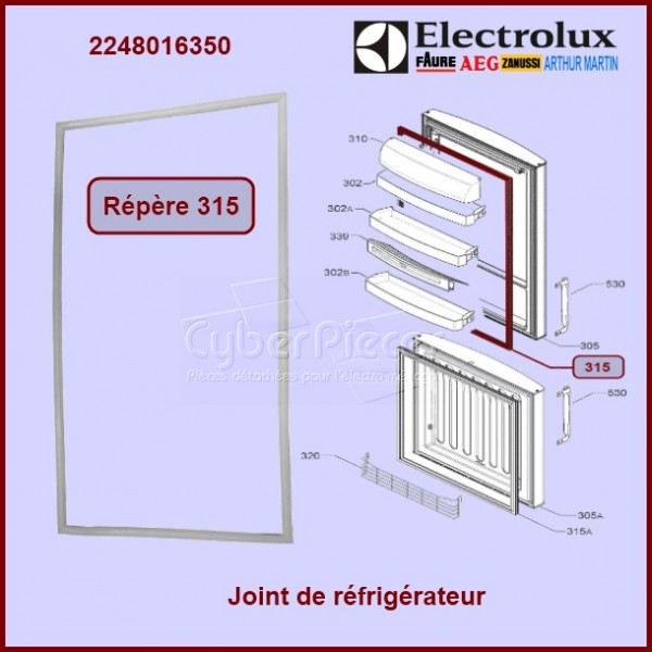 Joint magnétique  AEG ELECTROLUX 2248016350