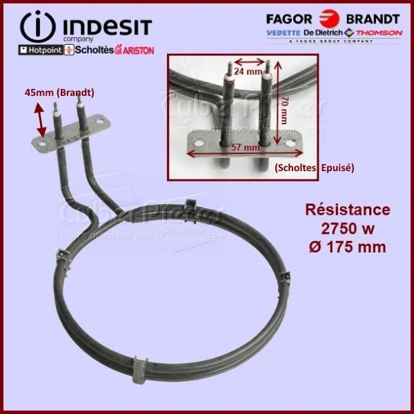 Resistance 2750w 230v Ø175mm - C00125364