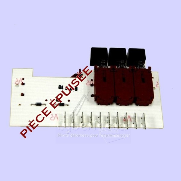 CIRCUIT ELECTRONIQUE VARIATEUR 3 TOUCHES 96558001 79X0120