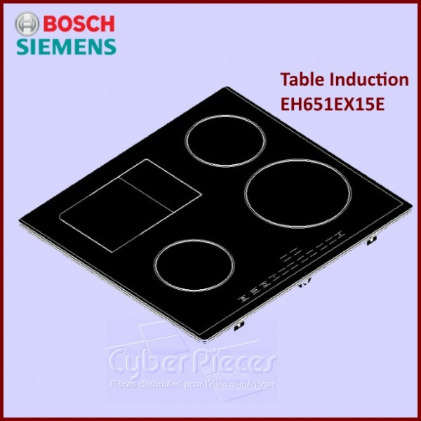 Dessus Vitrocéramique Bosch Siemens 00688329