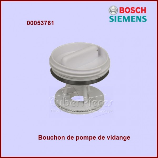bouchon de pompe bosch 00053761 pour filtres et bouchons machine a laver lavage pieces detachees. Black Bedroom Furniture Sets. Home Design Ideas