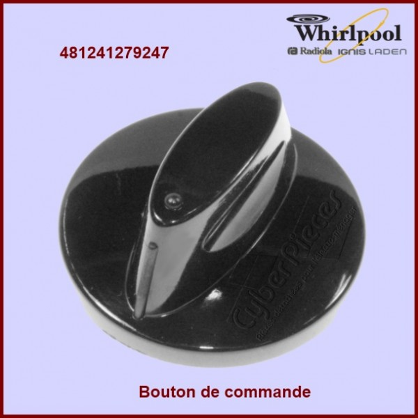 Bouton de commande WHIRLPOOL 481241279247