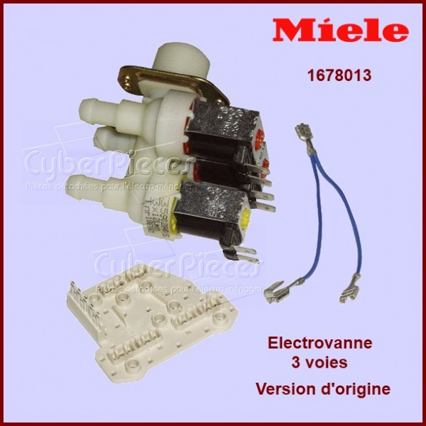 Electro-vanne Triple 90° Ø12 version d'origine Miele 1678013