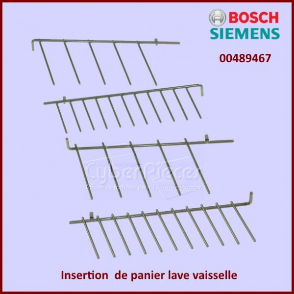 insertion panier lave vaisselle bosch 00489467 pour lave vaisselle lavage pieces detachees. Black Bedroom Furniture Sets. Home Design Ideas