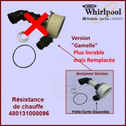 Élément chauffant 2040 w + corps de pompe Whirlpool 481010518499 CYB-078665