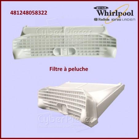 Filtre à peluche Whirlpool 481248058322