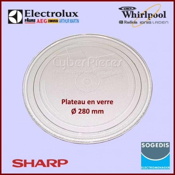 plateau tournant en verre 28 cm pour micro ondes cuisson pieces detachees electromenager. Black Bedroom Furniture Sets. Home Design Ideas