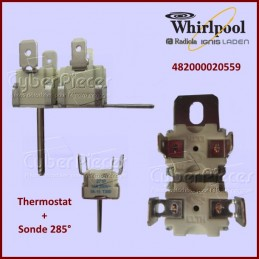 Thermostat + sonde 285° Whirlpool 482000020559 CYB-013628