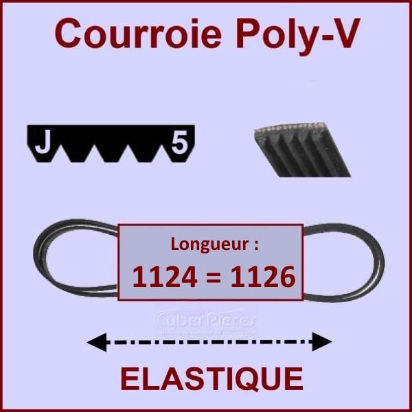 Courroie 1124J5 - 1126J5 élastique