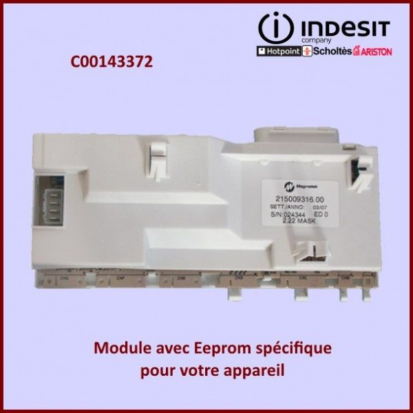 Module résinée ROHS Indesit C00143372 avec Eeprom spécifique