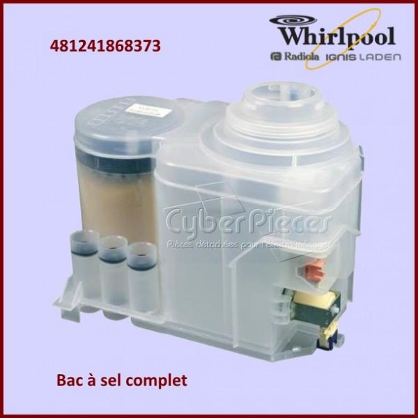 bac sel complet whirlpool 481241868373 pour lave vaisselle lavage pieces detachees electromenager. Black Bedroom Furniture Sets. Home Design Ideas