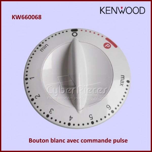 Bouton blanc de réglage avec pulse KW660068 pour Kenwood KM200