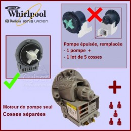 Kit de remplacement pour Moteur de pompe seul Odalys 481236018474 CYB-000529