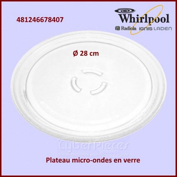 Plateau en verre Micro Onde Whirlpool 481246678407