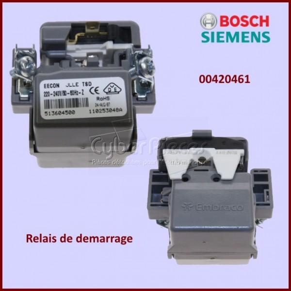 relais de d marrage bosch 00420461 pour refrigerateurs et congelateurs froid pieces detachees. Black Bedroom Furniture Sets. Home Design Ideas