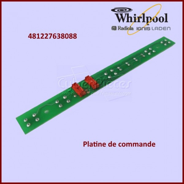 Platine de commande Whirlpool 481227638088