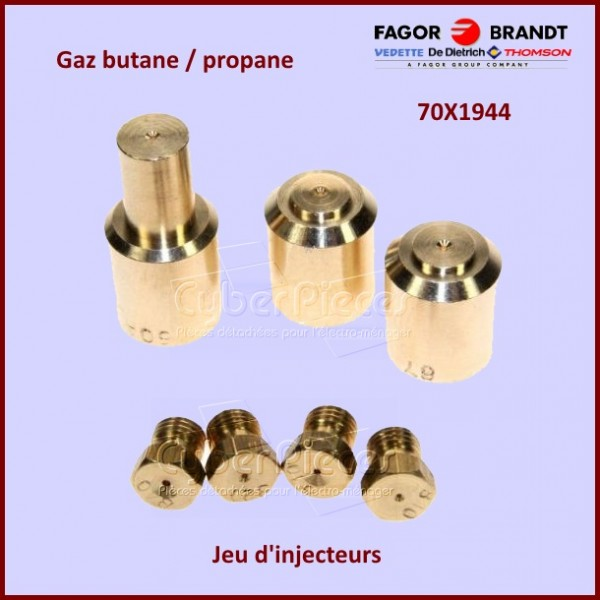 kit injecteurs gaz propane butane brandt 70x1944 pour. Black Bedroom Furniture Sets. Home Design Ideas