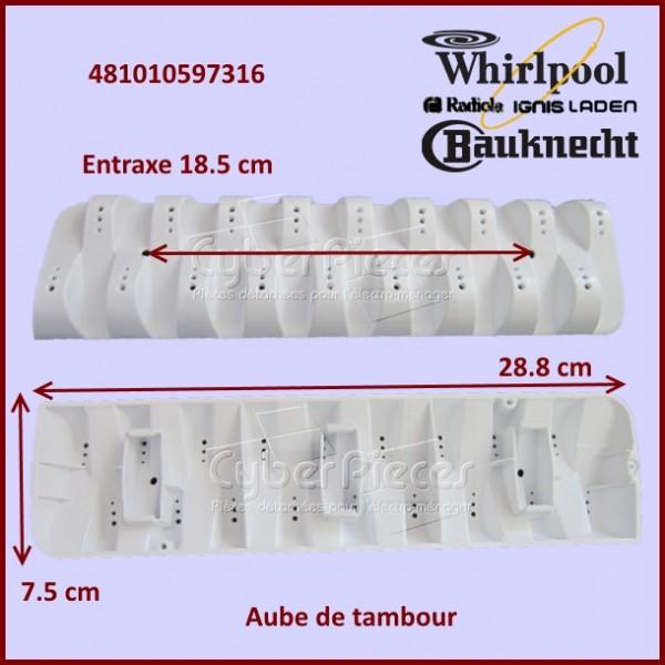 Aube de brassage Whirlpool 481010597316