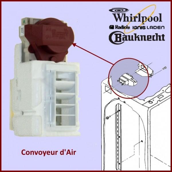 Trappe motorisée Convoyeur D'air  481244528009 WHIRLPOOL