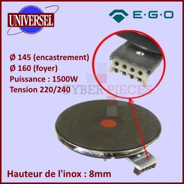 Foyer fonte 145mm 1500W - 8mm Ego 1214463196