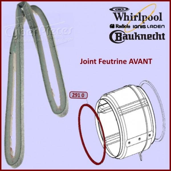 Feutre Avant de Tambour Whirlpool 481246668563