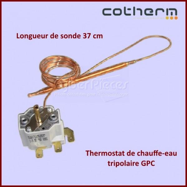 Thermostat chauffe-eau Cotherm GPC Tripolaire - Sondes L.37CM