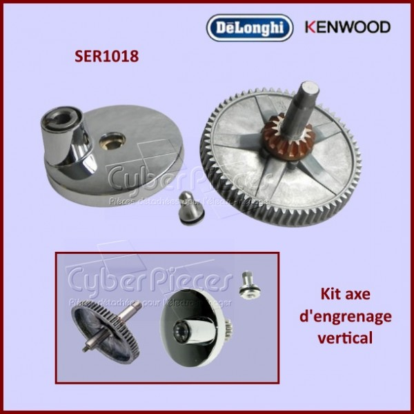 Kit axe engrenage vertical robot Major et Chef KENWOOD SER1018