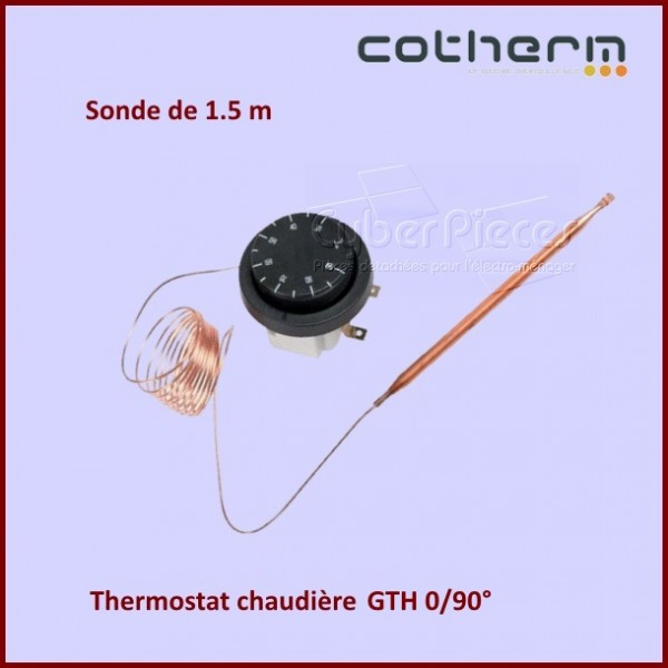 thermostat chaudi re 0 90 cotherm gth sonde l 1 5 m. Black Bedroom Furniture Sets. Home Design Ideas
