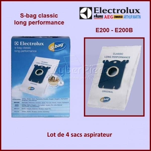 Lot de 4 sacs aspirateur E200 / E200B / E201B