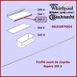 Profilé avant de clayette Whirlpool 481010476924 CYB-252515