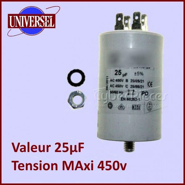 Condensateur 25,0µF (25,0MF) 450 Volts
