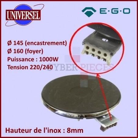 Foyer fonte 1000w / 230v - Ø145mm - 8mm