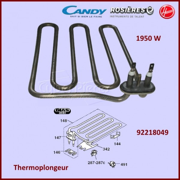 Thermoplongeur 1950w Candy 92218049